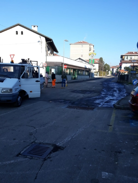 MONCALIERI - Iniziati i lavori di riasfaltatura su via Rigolfo