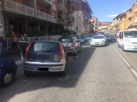 MONCALIERI - Grave incidente nella mattinata in strada Genova. Anziano in ospedale al Cto - LE FOTO -