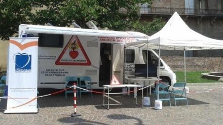 CARMAGNOLA - Ecocardiogramma gratuito per i cittadini di età dai 55 ai 75 anni in piazza S. Agostino