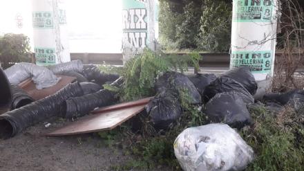 ORBASSANO - Non si arresta labbandono di rifiuti lungo la Sp6
