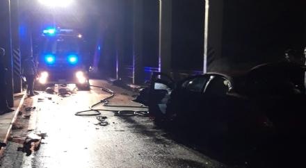 CARIGNANO - Grave incidente sul ponte della strada provinciale per Villastellone