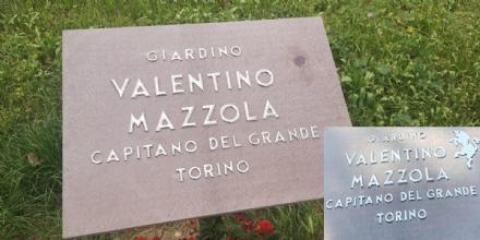 NICHELINO - Vandalizzata la targa dedicata a Valentino Mazzola
