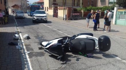 VINOVO - Incidente in via Cottolengo, due scooteristi al Cto. Uno è grave