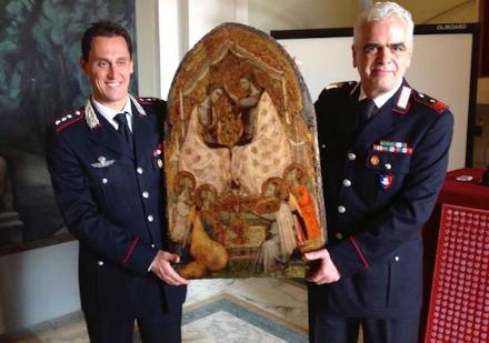 MONCALIERI - Recuperata dai carabinieri unopera darte rubata quarantanni fa a Vercelli