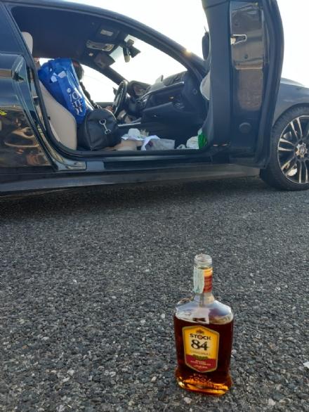 TROFARELLO - Al volante dellauto bevendo brandy: ubriaco in tangenziale denunciato