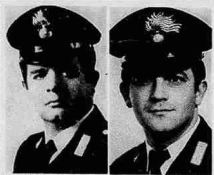 MONCALIERI - Sabato 13 maggio cerimonia in ricordo dei due carabinieri uccisi 40 anni fa