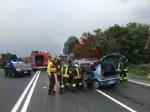 RIVALTA - Incidente stradale: tre auto coinvolte, due persone ferite - FOTO - immagine 1