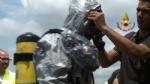 ORBASSANO - Perdita di sostanze tossiche da un treno merci: intervento dei vigili del fuoco - VIDEO - immagine 1