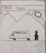 CARMAGNOLA - Il bimbo riceve la mascherina e dona un disegno allassociazione carabinieri - immagine 1