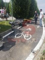 VINOVO - Ancora un motociclista coinvolto in un incidente: chiusa via Stupinigi - immagine 1