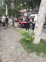MONCALIERI - Incidente su viale Del Castello: un ferito - immagine 1