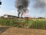 VINOVO - Incendio in unazienda agricola: a fuoco un magazzino di stoccaggio - FOTO - immagine 1