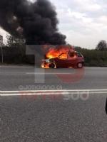 ORBASSANO - Brucia auto in marcia, paura in circonvallazione - immagine 1