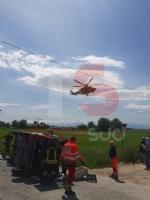 CARMAGNOLA - Brutto incidente su via Chieri: un uomo grave al Cto - immagine 1