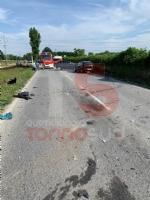 CARMAGNOLA - Brutto incidente lungo la provinciale 20: tre feriti - immagine 1