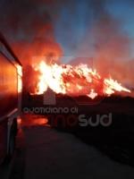 PIOSSASCO - Timore per i fumi tossici in arrivo da Frossasco per un incendio - immagine 1