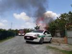 BEINASCO - Incendio in un orto a Borgaretto: cascina distrutta e fumo visibile a chilometri - immagine 1