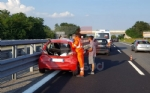 CANDIOLO-VOLVERA - Incidente stradale sul raccordo: un ferito - immagine 1