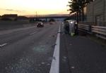 NICHELINO - Incidente sulla tangenziale: auto ruote allaria, ferita una donna - FOTO - immagine 1