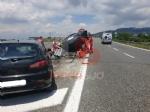 MONCALIERI - Si schianta con la Tesla elettrica sul raccordo: grave al Cto un uomo di Carmagnola - FOTO - immagine 1
