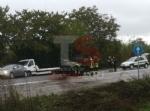 RIVALTA - Incidente stradale: auto si ribalta, conducente in ospedale - immagine 1