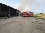 VINOVO - Incendio in unazienda agricola: a fuoco un magazzino di stoccaggio - FOTO - immagine 2
