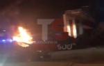 MONCALIERI - Grave incendio nella notte nel deposito di gomme di strada Carignano - LE FOTO - - immagine 3