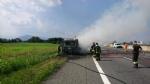 TANGENZIALE SUD - Camion prende fuoco durante la marcia - FOTO - immagine 2