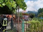 BEINASCO - Incendio in un orto a Borgaretto: cascina distrutta e fumo visibile a chilometri - immagine 2