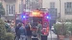 MONCALIERI - Scoppia un incendio in pieno centro, traffico bloccato - FOTO - immagine 2