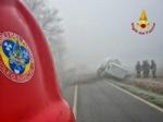 CARIGNANO - Brutto incidente tra un camion cisterna e unauto: due feriti - immagine 4