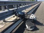 MONCALIERI - Motociclista tamponato e sbalzato a terra sul raccordo a Bauducchi - immagine 2