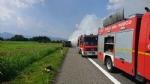 TANGENZIALE SUD - Camion prende fuoco durante la marcia - FOTO - immagine 3