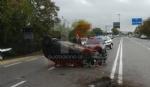 RIVALTA - Incidente stradale: auto si ribalta, conducente in ospedale - immagine 3