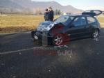 BRUINO - Incidente stradale, auto si ribalta: un uomo in prognosi riservata - FOTO - immagine 3