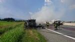 TANGENZIALE SUD - Camion prende fuoco durante la marcia - FOTO - immagine 4