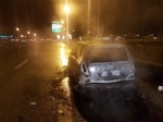 ORBASSANO - Auto prende fuoco in tangenziale, paura al Sito - LE FOTO - - immagine 1