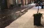 MONCALIERI - Violenta grandinata nella serata, strade imbiancate e trasformate in fiumi - LE FOTO - - immagine 1