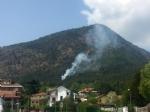 PIOSSASCO - Nuovo incendio sul monte San Giorgio. Vigili del fuoco e squadra Aib in azione - immagine 1