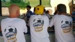 CARIGNANO - Tutti pazzi per il calciobalilla umano sotto lala di via Savoia - immagine 1