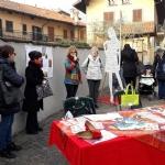 PIOSSASCO - Inaugurata la panchina rossa contro la violenza sulle donne - immagine 1