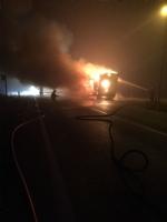 LA LOGGIA - Tir carico di caffè distrutto da un incendio nella notte - immagine 2