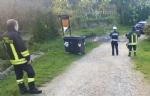 VINOVO - Raid vandalico sulle sponde del Chisola: incendiati due cassonetti - immagine 1