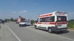 CARMAGNOLA - Doppio schianto sulla famigerata 393: due turisti tedeschi in ospedale - immagine 1