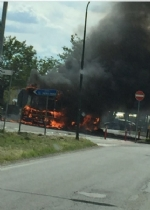 VIRLE - A fuoco un autobus, paura nella zona industriale SantAntonio - immagine 2