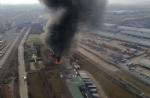 ORBASSANO-TORINO - Brucia unazienda: le immagini dallalto dellenorme colonna di fumo - FOTO e VIDEO - immagine 10