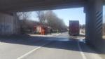 LA LOGGIA - Gasolio sullasfalto: circonvallazione bloccata - immagine 2
