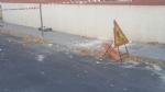 NICHELINO - Crolla un cornicione delledificio ex Granato Mobili: transennata la via - immagine 2