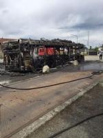 VIRLE - A fuoco un autobus, paura nella zona industriale SantAntonio - immagine 3