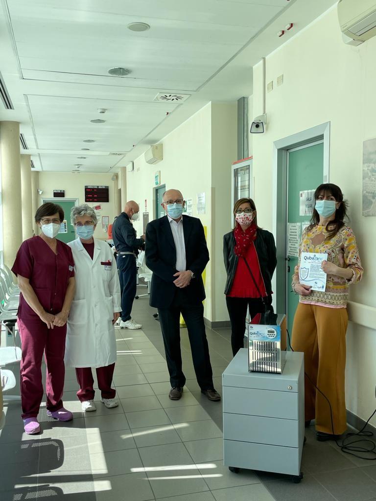 ORBASSANO - L'azienda medica dona al San Luigi un dispositivo per sanificare gli ambulatori